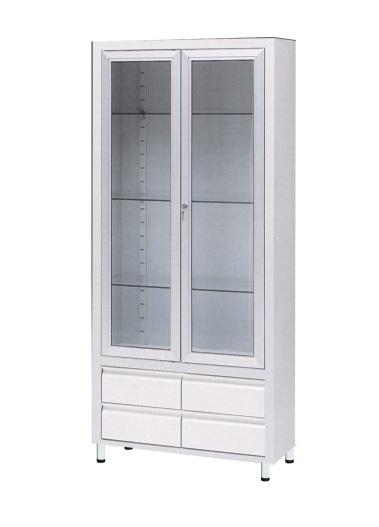 Двухстворчатый металлический шкаф для хранения инструментов 13-FP242