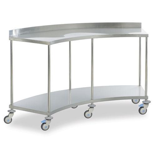 Медицинский стол металлический серповидный на колесах передвижной MAM 2160