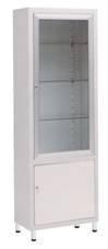 Металлический одностворчатый шкаф для хранения инструментов с глухим отсеком 13-FP247