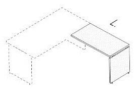 Дополнительная боковая пристройка для письменного стола на деревянных опорах N07-ES30806A1