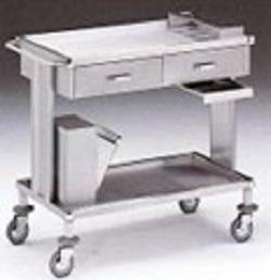 Стол-тележка для инструментов с двумя ящиками 16-FP475