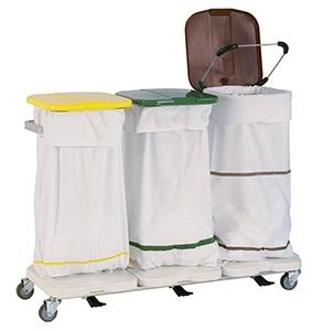 Медицинская тележка для белья на 3 мешка 3840 CR