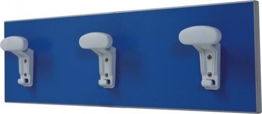 Настенная вешалка для медицинского кабинета с 4 крючками из полимера