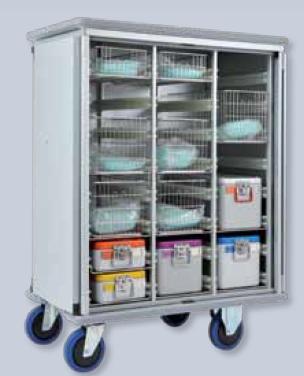 Тележки-шкафы медицинские для стерильных контейнеров