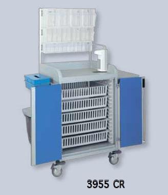 Медицинская тележка с модульной конфигурацией Alva