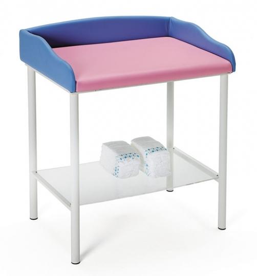 Пеленальный медицинский стол с обивкой и полкой 24-PE200
