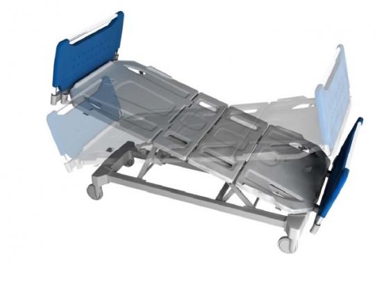 Кровать больничная подростковая 4-х секционная 11-CP163