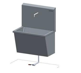Раковина медицинская для мытья рук с педальным управлением