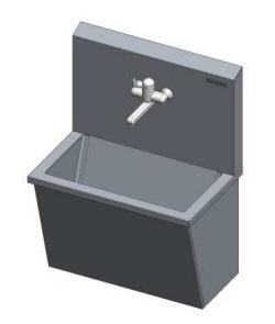 Раковина медицинская для мытья рук с рычажным управлением