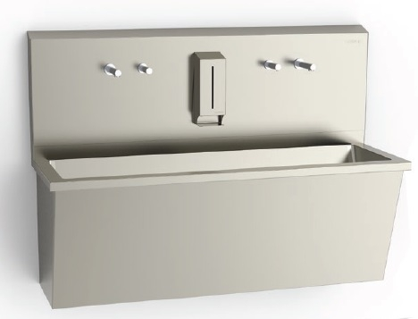 Раковина медицинская для мытья рук с регулировкой фотоэлемен