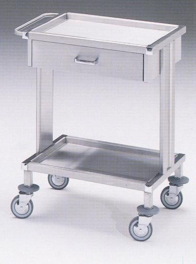 Тележка - стол процедурный из нержавеющей стали с 1 ящиком 16-FP477