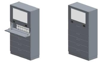 Медицинский шкаф с экраном-негатоскопом для просмотра рентгеновской плёнки