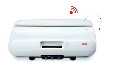 Беспроводные электронные весы для взвешивания младенцев с оптимизированной системой демпфирования Seca 727 и ПК с Seca