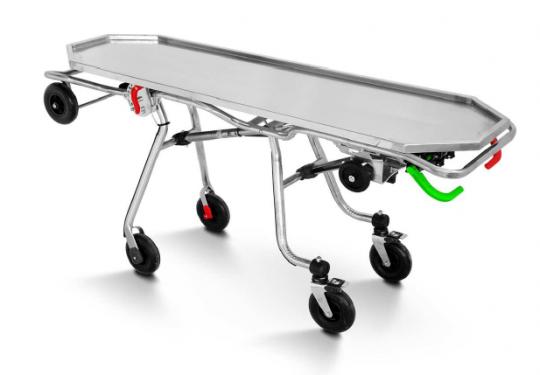Медицинская тележка-каталка с механизмом самозагрузки