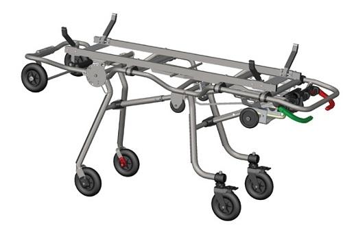 Тележка-каталка оснащённая механизмом самозагрузки и устройством регулировки по высоте – модель Zcross