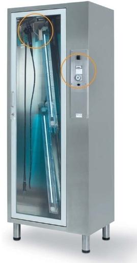 Стерилизационные медицинские шкафы для эндоскопов на 4 и 8 эндоскопов с 4 бактерицидными лампами