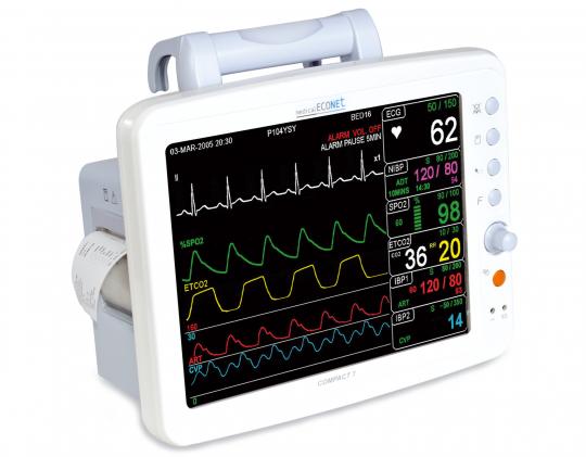 Прикроватный многопараметрический монитор пациента Compact 7 Medical ECONET