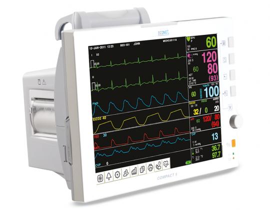 Многофункциональный медицинский монитор пациента для реанимаций и палат интенсивной терапии Compact 9
