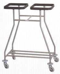 Медицинская тележка для белья на 2 мешка - 16-FP465
