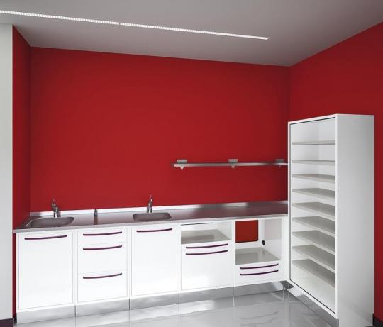 Угловой набор мебели для стоматологического кабинета