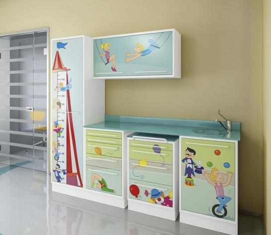 Оригинальный детский комплект медицинской мебели