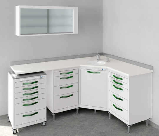 Модульный комплект мебели для стоматологического кабинета -Угловой