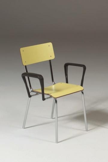 Медицинский хромированный стул с подлокотниками 17-FP321