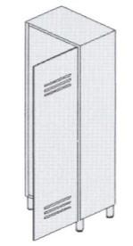 Шкаф-раздевалка из окрашенной стали 1-местная