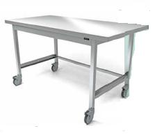 Медицинский стол с рабочей поверхностью оснащённый электрогидравлическим устройством