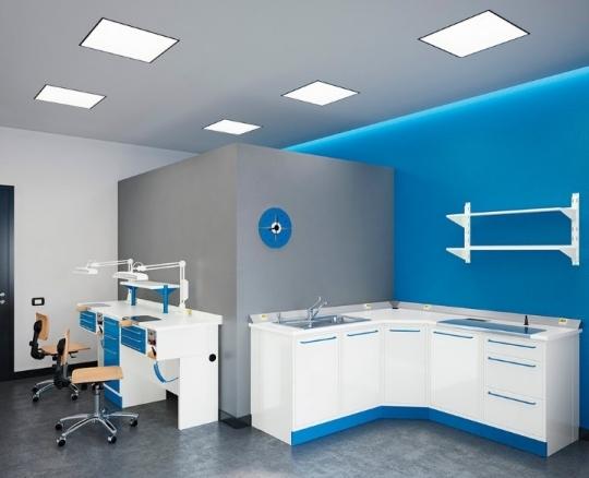 Модульная мебель для зуботехнической лаборатории