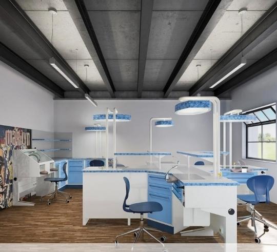 Модульный комплект мебели для зуботехнической лаборатории