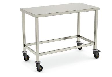 Металлический стол из нержавеющей стали