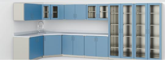 Модульный медицинский функциональный шкаф