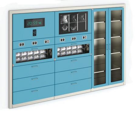 Медицинский шкаф для операционной из окрашенной стали