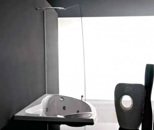 Угловая акриловая ванна - Treesse Syria BOX Easy