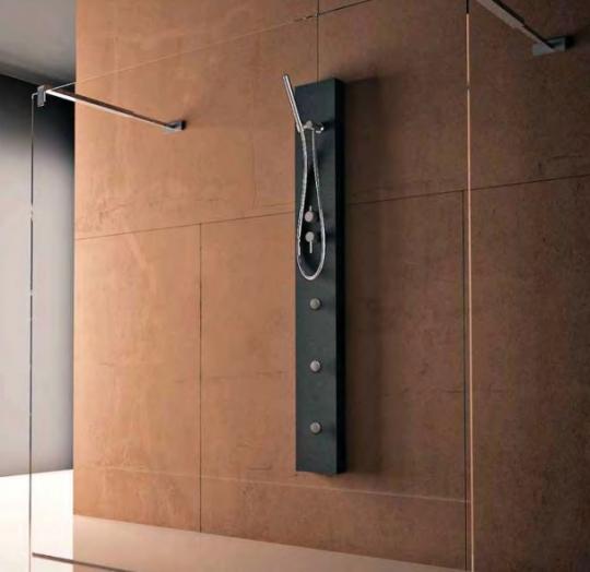 Практичный душ черного цвета со смесителем Treesse Elle 160 Midi