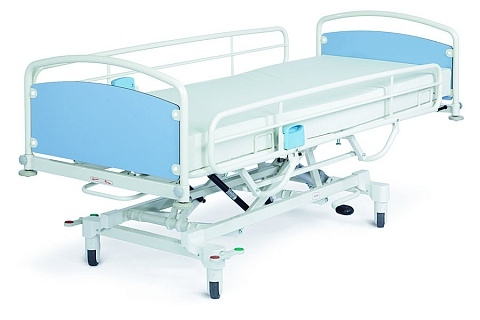Медицинская кровать для интенсивной терапии и реанимации с гидравлической регулировкой высоты Lojer Salli Pro H-280, Salli Pro H-480