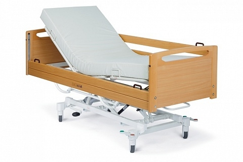 Гидравлическая медицинская кровать с деревянными ограждениями Alli H-280 / Alli H-480