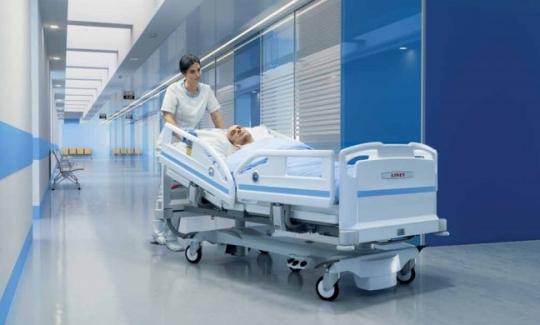 Медицинская реанимационная кровать для отделения интенсивной терапии LINET Eleganza Smart