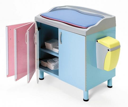 Пеленальный медицинский стол с тумбой и матрасиком 24-РЕ210