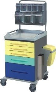 Многофункциональная медицинская тележка с 5 выдвижных ящиками (нержавеющая сталь) 16-FT630/I