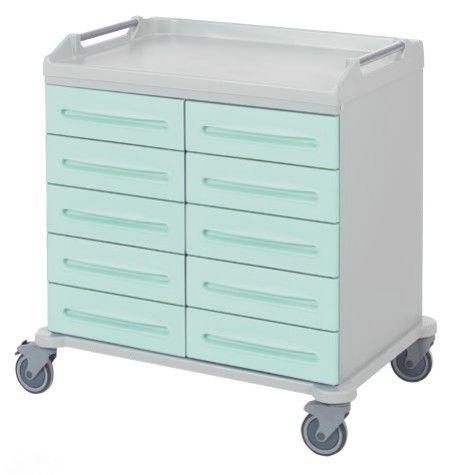 Транспортная медицинская тележка для хранения с 8 выдвижными ящиками 16-FT9015