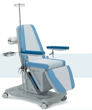 Многофункциональное донорское кресло электрическое (ножная секция - гидравлика) 19-PO300 (Вариант 2)