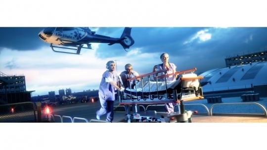 Медицинская каталка для отделения скорой помощи LINET Sprint