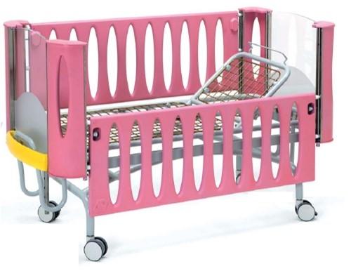 Функциональная медицинская детская кровать с регулируемой высотой ложа (механика) 24-РЕ115
