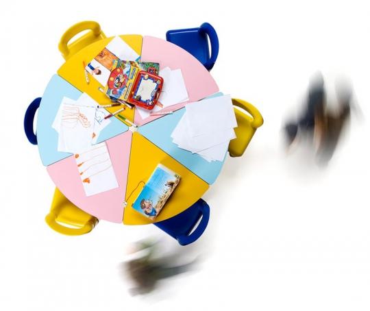 Сегментный детский столик 24-PE400