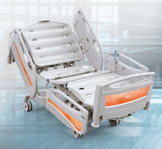Кровать медицинская функциональная 4-х секционная с изменяемой высотой (электрический привод) для реанимации THESIS EB0440