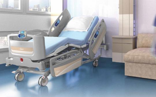 Четырехсекционная функциональная медицинская кровать с изменяемой высотой (электрический привод) для реанимации THESIS EB0810