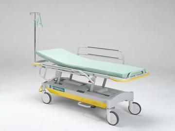 Каталка - тележка для перевозки больных с повышенным весом и регулируемой высотой 20-FP647