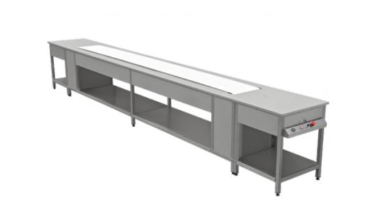 Ленточная конвейерная система для порционирования